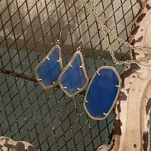 Kendra Scott blue necklace & earring set